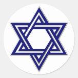Estrella del KRW del sello de David Pegatina Redonda