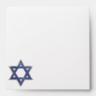Estrella del KRW del sobre cuadrado de David