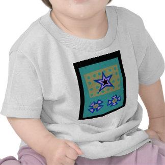 Estrella del laurel en azul camiseta
