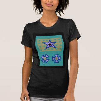 Estrella del laurel en azul playeras
