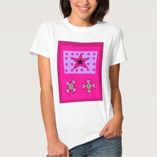 Estrella del laurel en rosa playeras