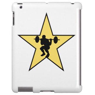 Estrella del levantamiento de pesas funda para iPad