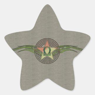 Estrella del libra pegatina en forma de estrella