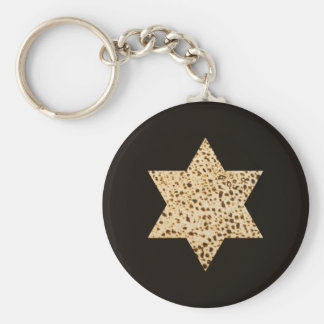 Estrella del Matzah de David Llavero Redondo Tipo Pin