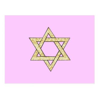 Estrella del Matzoh de David Tarjeta Postal