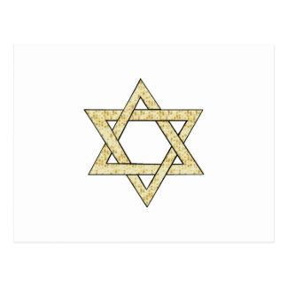 Estrella del Matzoh de David Postal