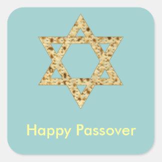 Estrella del Matzoh del Passover del judaísmo de Pegatina Cuadrada