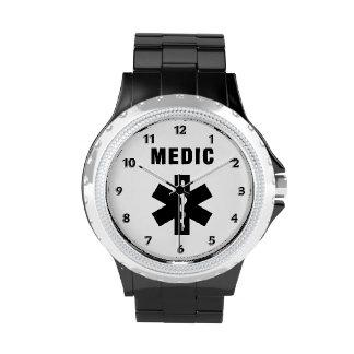 Estrella del médico de la vida reloj de mano
