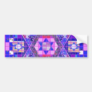 Estrella del mosaico de David Etiqueta De Parachoque