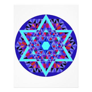 Estrella del mosaico de David Plantilla De Membrete
