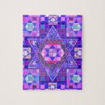 Estrella del mosaico de David Rompecabeza Con Fotos