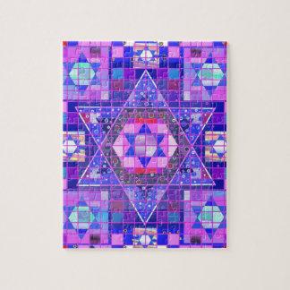 Estrella del mosaico de David Rompecabezas