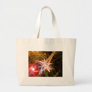 Estrella del navidad bolsa tela grande
