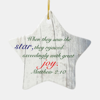 Estrella del navidad con verso y Driftwood de la Adorno De Cerámica En Forma De Estrella