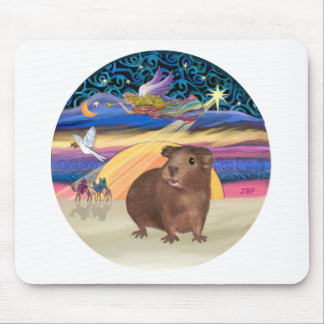 Estrella del navidad - conejillo de Indias 3 Tapetes De Ratón