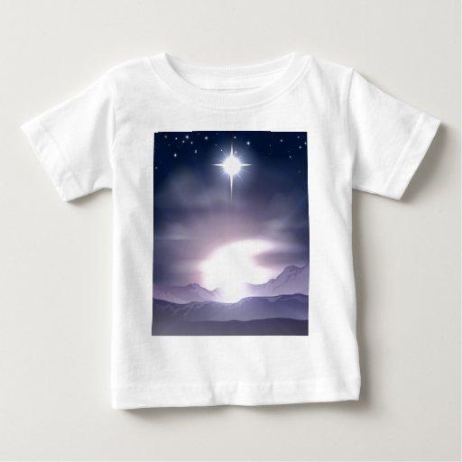 Estrella del navidad de la natividad de Belén Tee Shirts