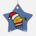 Estrella del navidad del salto del Doodle Adornos De Navidad