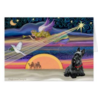 Estrella del navidad - escocés Terrier 2B Felicitación