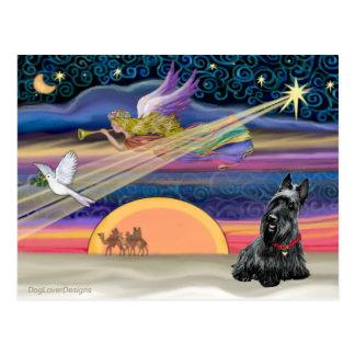 Estrella del navidad - escocés Terrier 2B Postales