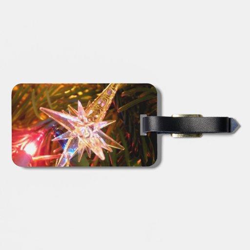 Estrella del navidad etiquetas para equipaje