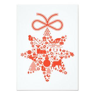 """Estrella del navidad invitación 5"""" x 7"""""""