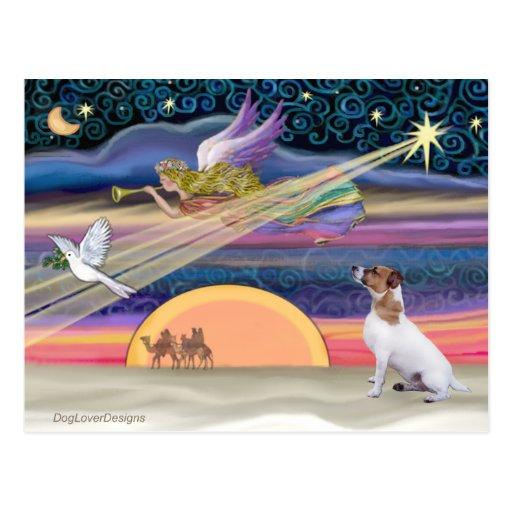 Estrella del navidad - Jack Russell Terrier Postal