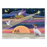 Estrella del navidad - Jack Russell Terrier Felicitaciones