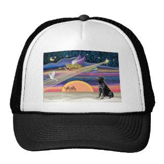 Estrella del navidad - labrador retriever (negro) gorras de camionero