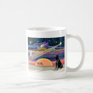 Estrella del navidad - labrador retriever (negro) taza de café