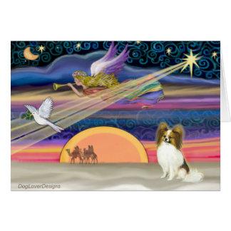 Estrella del navidad - Papillon cervatillo 5 Tarjetas