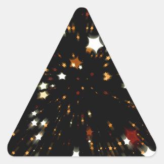 Estrella del navidad pegatinas de triangulo