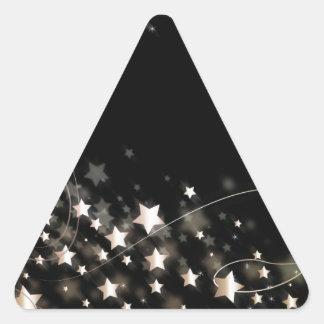 Estrella del navidad calcomanías triangulos personalizadas