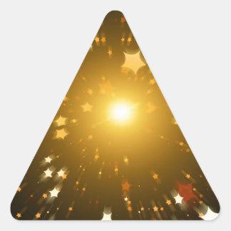 Estrella del navidad calcomanías de trianguladas