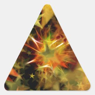 Estrella del navidad pegatinas trianguladas personalizadas