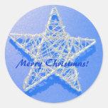 Estrella del navidad - pegatina de las Felices