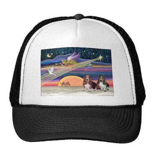 Estrella del navidad - perros de afloramiento (dos gorras