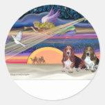 Estrella del navidad - perros de afloramiento (dos etiqueta