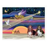 Estrella del navidad - perros de afloramiento (dos postales
