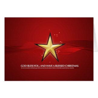 Estrella del navidad tarjeta de felicitación