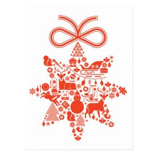 Estrella del navidad tarjeta postal
