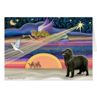 Estrella del navidad - Terranova (negro 2) - Tarjeta De Felicitación