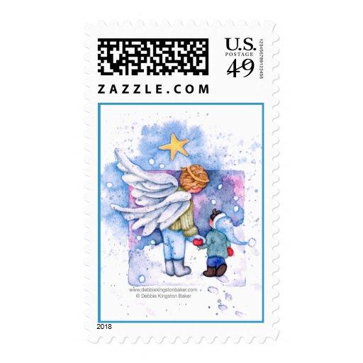Estrella del navidad timbres postales