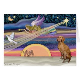 Estrella del navidad - Viszla 1 Tarjeton