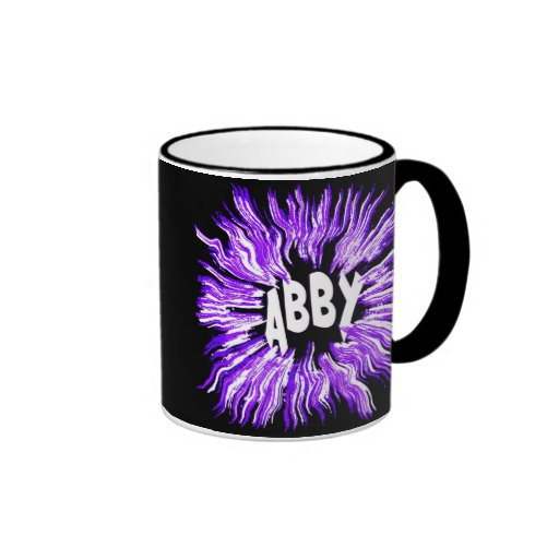 Estrella del nombre de Abby en púrpura Taza De Café