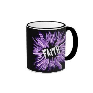 Estrella del nombre de la fe tazas de café