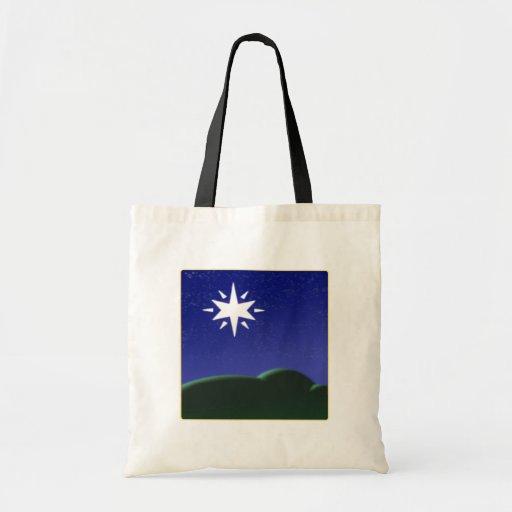 Estrella del norte bolsa tela barata