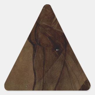 Estrella del norte de Alfonso Mucha Pegatina Triangular