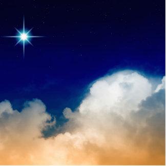 Estrella del norte y nubes imán fotoescultura