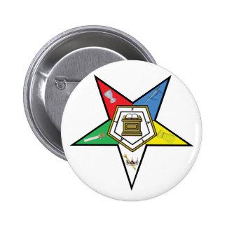 Estrella del OES Pin Redondo De 2 Pulgadas