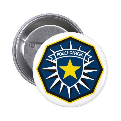 Estrella del oficial de policía pin